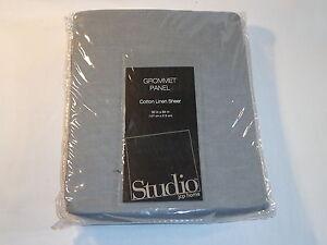JC Penney Studio Grommet Curtain Panel - Cotton Linen Sheet Vintage Nickel