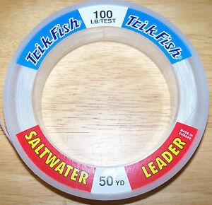 TRIPLE FISH LEADER LINE 50 YARD SPOOL CLEAR