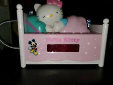 Hello Kitty Clock Sanrio Alarm Radio Bed Sleeping Pink Lights Up Vintage