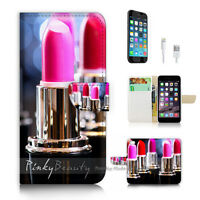 ( For iPhone 6 / 6S ) Wallet Case Cover P2891 Lipstick