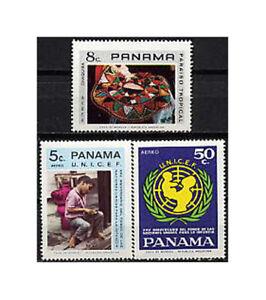 PANAMA, Sc #C390-92, MNH, 1972, UNICEF, SHOE SHINE BOY, MOTHER & CHILD, FHI-H