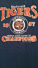 DETROIT TIGERS VINTAGE 1987 AMERICAN LEAGUE EASTERN DIVISION CHAMPIONS T SHIRT
