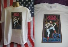 THE BLACK CROWES-STUBB'S AUSTIN, TEXAS COWGIRL POSTER PRINT T SHIRT-WHITE- LARGE