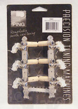 PING CLASSIC-DELUXE PRECISION TUNING MACHINES w/PEARLOID BUTTERFLY BUTTONS 3+3