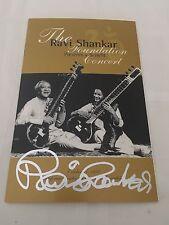 Ravi Shankar SIGNED Program George Harrison Beatles PROOF