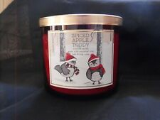 Bath & Body Works spiced apple toddy candle 3 wick candle NEW