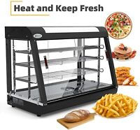 """3 Tiers Commercial Food Warmer Cabinet 35""""x25""""x19"""" Countertop Pizza Display Case"""