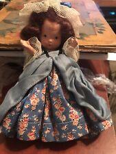 """Rare Nancy Ann JUDY ANN USA all bisque  doll 5""""Original Clothing Colonial Dame"""