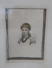 ALFRED CADART (1828-1875) - Gravure - PORTRAIT DE FEMME - IIeme Empire