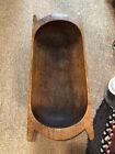 Antique Primitive wooden dough bowl trencher