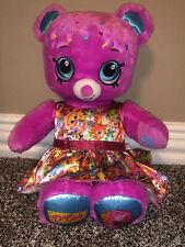 "Build A Bear Workshop D'lish Donut Shopkins Stuffed Plush 16"" With Dress"