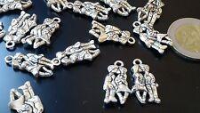 17 Colgantes Zamak beso niños abalorios,bisuteria, pendant, pendentif, anhänger