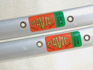 1 Pair Mavic 700C Module 3 Argent D Silver Clincher Rims 36 H @500 grams Presta