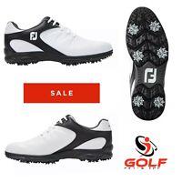 FJ FootJoy ARC XT Golf Shoes White Black Size 6.5 Wide UK New