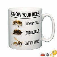 Know your bees rude novelty mug funny tea coffee home office humour ideal gift