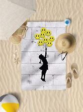 "58"" x 39"" Banksy Balloon Girl Microfibre Beach Towel Pool Sun Bathing Towel Only"