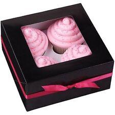 Cupcake Box Black 4-Cavity 3 ct from Wilton #0731- NEW