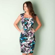 BNWT NEW LADIES LIPSY BLACK FLORAL SHIFT DRESS SIZE 8 COCKTAIL BODYCON PARTY