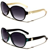 NEW CG Butterfly Women's Round Stylish White Pearl Sunglasses CG36285 Free Case