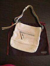 COACH 1427 Legacy Medium Slim Shoulder Duffle Bag Parchment Pebble Leather