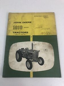 John Deere JD 1010 Tractor Owner's Operator's Manual