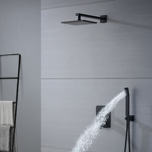 "Shower Faucet Set Bathroom shower system Wall Mounted with 8"" Rain Shower Head"