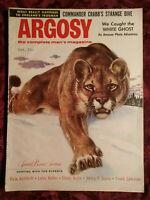 ARGOSY October 1956 FROGMAN LIONEL CRABB HUNTING SECTION MOUNTAIN LION +++