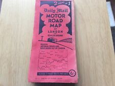 """DAILY MAIL"" ~ Motor Road Map, 2 Maps in 1, LONDON Plus South-East England"
