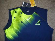 BNWT XXL Australia Wallabies Rugby Union Training Sleeveless T-Shirt Asics
