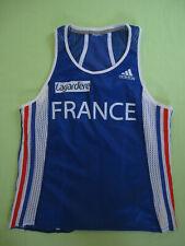 Maillot Equipe de France athlétisme Adidas Tee shirt jersey lagardere - S