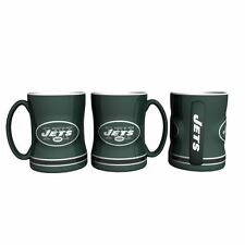 New York Jets Coffee Mug Relief Sculpted Team Color Logo - 14 oz NEW Green