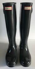 Hunter Original Tall Gloss Rain Boots Dark Gray size 8