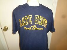 90s XL Mens VTG Lee Tag Late Night with David Letterman tv show t-shirt