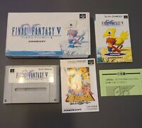 FINAL FANTASY V 5 Nintendo Super Famicom with Box Japanese Edition US SELLER