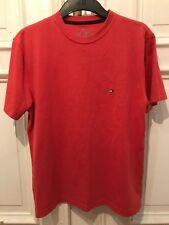Tommy Hilfiger Vintage Rundhals Basic T-Shirt T Shirt Lachs Rot Gr. S 60% Cotton