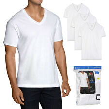 Fruit of The Loom Men's 3 Pack Casual Wear Dual Defense Tag-Free V Neck T Shirts