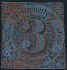 THURN UND TAXIS, MiNr. 8, roter Stempel 303, Befund Sem, Feuser 300,-