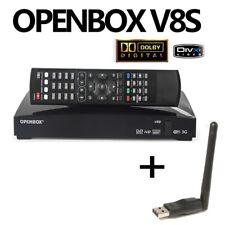 OPENBOX V8S Digital Satellite Receiver HD Freesat Box Recorder + Wifi Dongle UK
