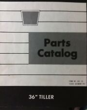 Oliver White Lawn Garden Tractor Rotary Tiller Implement Attachment Parts Manual