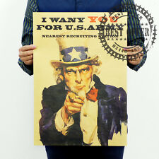 1812 Map World Uncle Sam I Want You Vintage Retro Wall  Home Office Poster 20x14