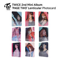 TWICE 2nd mini album PAGE TWO Photocard Lenticular Version KPOP K-POP