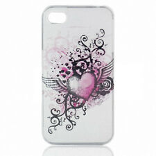 For Apple iPhone 4 4S Protector Hard Snap on Case Phone Cover Grunge Heart