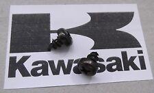 Genuine Kawasaki Phillips Cabeza Auto-Roscado Tornillo Negro 5x8mm 92009-1043 2-Pack