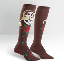Sock It To Me Women's Funky Knee High Socks - Dia de los Muertos