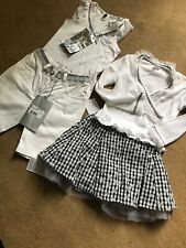 Microbe Miss Grant Girls Outfit, Age 4, Shorts ,Skirt & Top And Cardigan BNWT