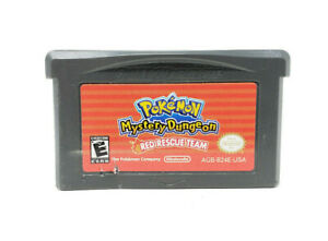 Pokemon Mystery Dungeon Red Rescue Team Nintendo Game Boy Advance GBA Cart Only