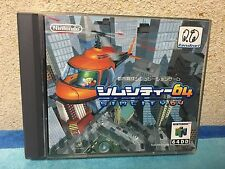 Sim City 64 Nintendo 64 DD Japan NTSC-J N64 Disk Drive 64DD SimCity