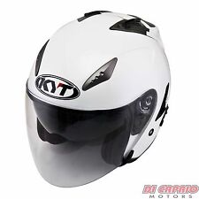 CASCO scooter moto Touring JET KYT by Suomy mod. Hellcat taglia M bianco perlato