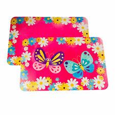 Butterflies Spring Daisies Decosoft Reversible Plastic Placemats Set of 4