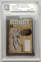 2005-06 ITG Ultimate Memorabilia 28/50 Brad Park Autograph-Jersey Card